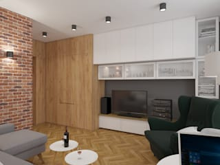 Salones escandinavos de AIN projektowanie wnętrz Escandinavo
