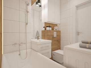 AIN projektowanie wnętrz Scandinavian style bathroom
