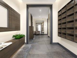 Duygu Solaker  – Göztepe İnci // Apartman Giriş Holü:  tarz Koridor ve Hol
