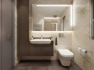 Duygu Solaker  – Göztepe İnci // Misafir Banyosu: modern tarz Banyo