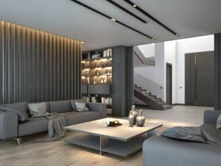 Vivienda de Lujo en Ciudalcampo Salones de estilo moderno de Estudio Arinni S.L. Moderno