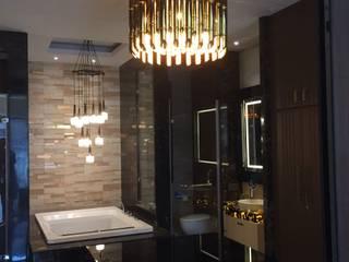 Ashok Vihar Residence - Lighting Modern bathroom by Jainsons Emporio Modern