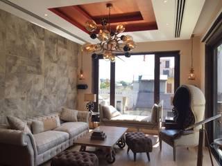 Ashok Vihar Residence - Lighting Modern living room by Jainsons Emporio Modern