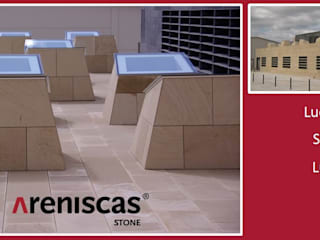 ARENISCAS STONE Spazi commerciali moderni Pietra Ambra/Oro