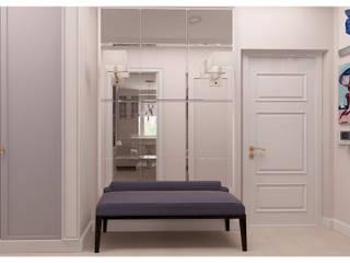 Светлая квартира с зонированием гостиной Коридор, прихожая и лестница в эклектичном стиле от Альбина Романова Эклектичный