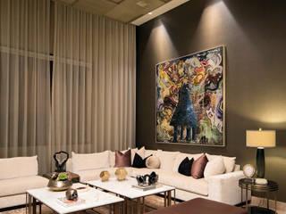 Casa Alanza: Salas de estilo  por VOA Arquitectos