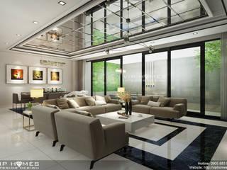 Thiết kế phòng khách biệt thự hiện đại:   by Công ty TNHH Kien Xay Nha