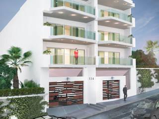 Edificio Residencial: Casas de estilo  por GRUPO CONSTRUCTOR VALLES