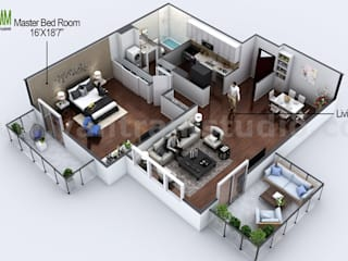 3D Floor Plan Design Ideas Modern Design:   by Architectural Design Studio