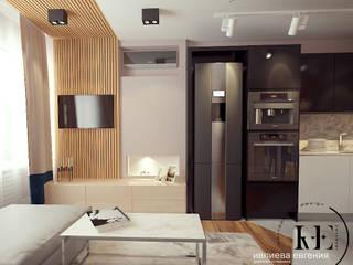 Роскошь и стиль в современной квартире в ЖК «Самоцветы»: Гостиная в . Автор – Iv-Eugenie