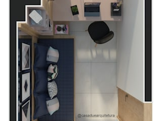 HOME OFFICE Escritórios modernos por CASA DUE ARQUITETURA Moderno