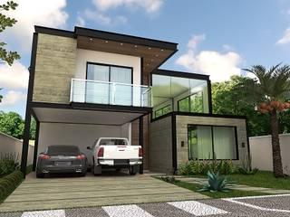 ESTRUTURA METÁLICA EM RESIDÊNCIA: Condomínios  por Schwartz Arquitetura