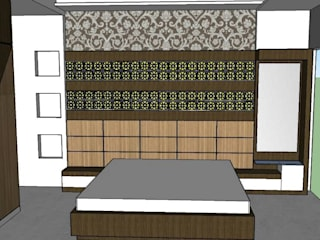 House Elevation and Interior Designing work: asian  by Interior Decorators Jaipur,Asian