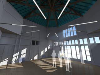 Pedro de Almeida Carvalho, Arquitecto, Lda Studio in stile classico Legno massello Bianco