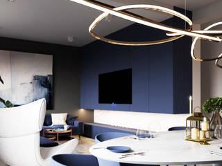Salon apartamentu 120m2 w Błękicie: styl , w kategorii Salon zaprojektowany przez Ale design Grzegorz Grzywacz