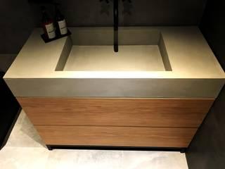 Bathcreate Luxum - umywalki o betonowej strukturze od Luxum Nowoczesny