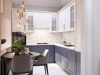 Небольшая кухня в светлых тонах - идеи дизайна интерьера кухни от Artichok Design Минимализм