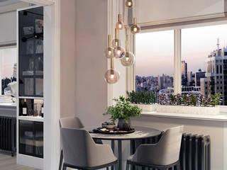 Дизайн интерьера небольшой кухни в смарт-квартире Кухня в стиле минимализм от Artichok Design Минимализм