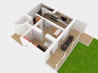 Ristrutturazione : Pavimento in stile  di Simone Fratta Architetto
