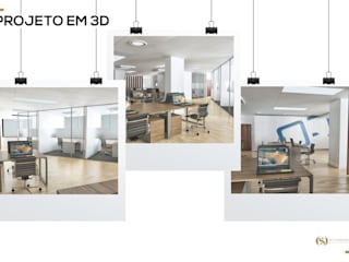 Escritório: Escritórios e Espaços de trabalho  por MY STUDIO HOME - Design de Interiores