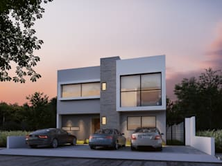 Casa Cactus 183, Zibatá de Ambás Arquitectos Moderno