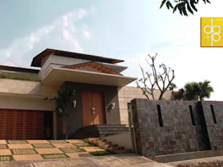 Residential_Landed_Semi-Detached House:  Rumah by daksaja architects and planners