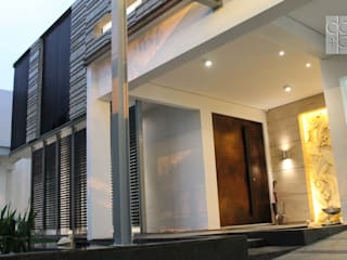 Residential_Landed_Semi-Detached House Rumah Modern Oleh daksaja architects and planners Modern