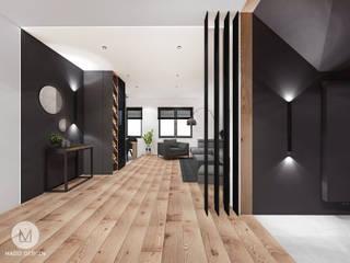 Projekt  poddasza domu w Libertowie.: styl , w kategorii Korytarz, przedpokój zaprojektowany przez MADO DESIGN,