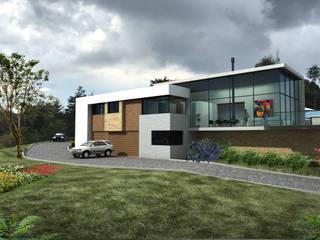 Casa Bella Terra: Casas de estilo moderno por DOS Arquitectos