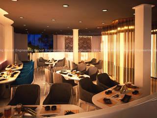 Spice Theme: California Restaurant 3D Interior Design Modern Dining Room by Rayvat Rendering Studio Modern