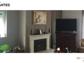 Remodelação da Sala: Salas de estar  por MY STUDIO HOME - Design de Interiores