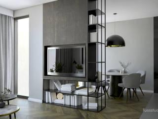 Salon : styl , w kategorii  zaprojektowany przez Fuss Studio