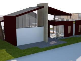 Casa unifamiliare: Casa di legno in stile  di Simone Fratta Architetto