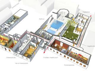Herbestemming Tivoli Moderne gezondheidscentra van NOHNIK architecture and landscapes Modern