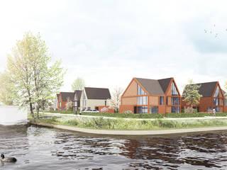 Waterwoningen Meerstad Groningen van NOHNIK architecture and landscapes Modern