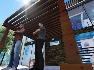 CASA CUEVAS: Casas unifamiliares de estilo  por VB Arquitectos