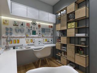 Ateliê de Arte e Aostura: Escritórios  por LK Studio Arquitetura