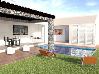 Diseño arquitectónico y decoración: Jardines de estilo  por ARCHIMINIMAL ESTUDIO, Minimalista