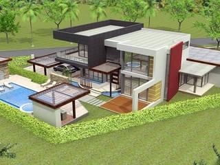 Diseño y arquitectura de casas/viviendas Casas de estilo mediterráneo de Constructora ANyG Mediterráneo