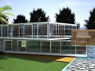TROPICAL: Villas de estilo  por Goytia Ingenieria