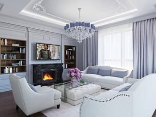 гостиная: Гостиная в . Автор – r-interiors