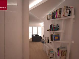 libreria di ingresso: Ingresso & Corridoio in stile  di Simone Fratta Architetto