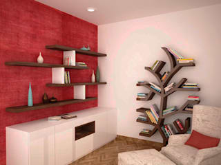 Study or reading area Modern study/office by homify Modern