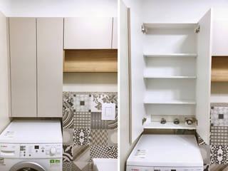 Badmöbell Lösung mit Waschmaschine   - Berlin Prenzlauer Berg:  Badezimmer von KHG Raumdesign - Innenarchitektin in Berlin
