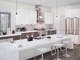 Modern Kitchen Design:   by Rayvat Engineering