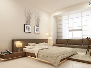 Modern Bedroom Design:   by Rayvat Engineering