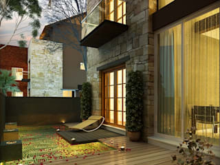Exterior Design:  Bungalow by Rayvat Engineering