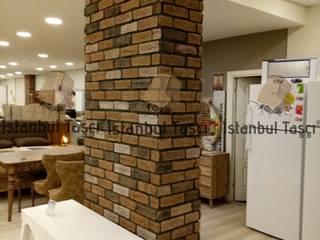 Mağaza İç Dekorasyon Kolon Tuğla Uygulaması Rustik Duvar & Zemin İSTANBUL TAŞÇI ® Rustik