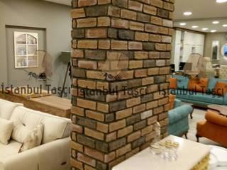 Mağaza İç Dekorasyon Kolon Tuğla Uygulaması İSTANBUL TAŞÇI ® Rustik