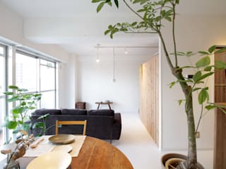 Mimasis Design/ミメイシス デザイン Modern living room Concrete White